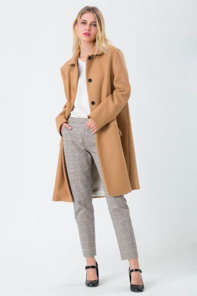 Manteau col rond