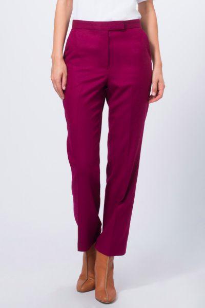 Pantalon droit mauve