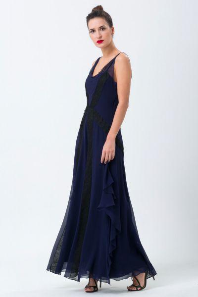 Robe longue bleu John Galliano