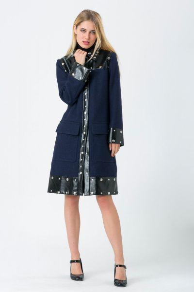 Manteau bleu Sonia Rykiel