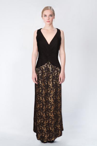 Robe longue noir LFE