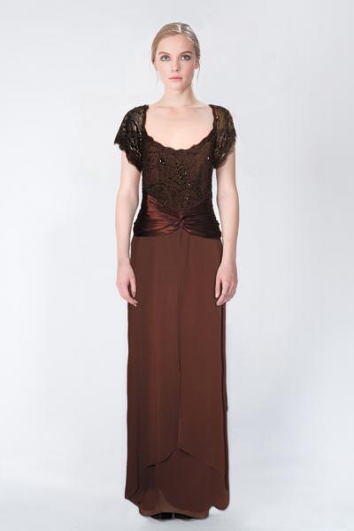 Robe longue marron LFE