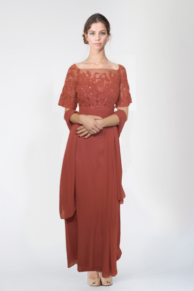 Robe longue rose LFE