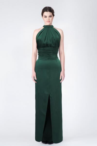 Robe longue vert Yves Saint Laurent