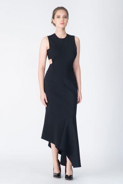 Robe longue noir Alexandre Vauthier