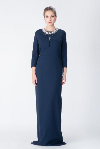Robe longue bleu Azzaro