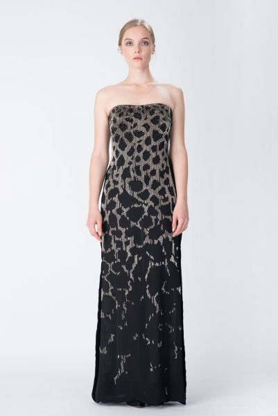 Robes longues noir Roberto Cavalli