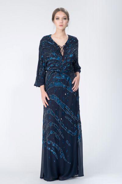Robe longue bleu Roberto Cavalli
