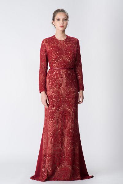 Robe longue rouge Elie Saab