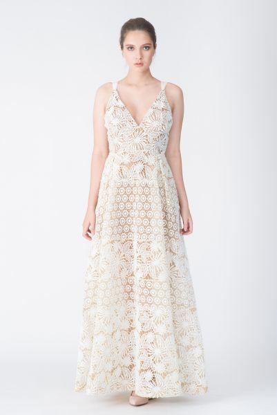 Robe longue blanc Elie Saab