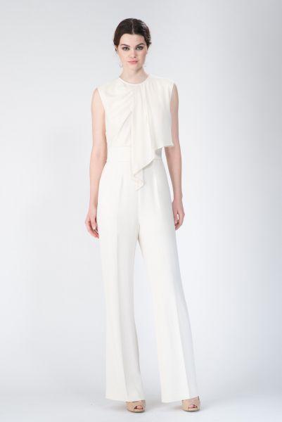 Combipantalon blanc Elie Saab
