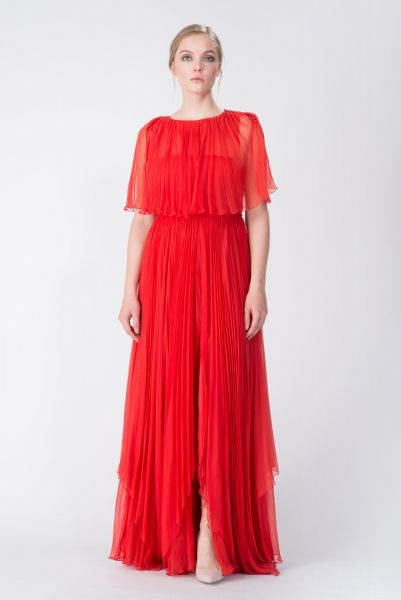 Robe longue rouge John Galliano