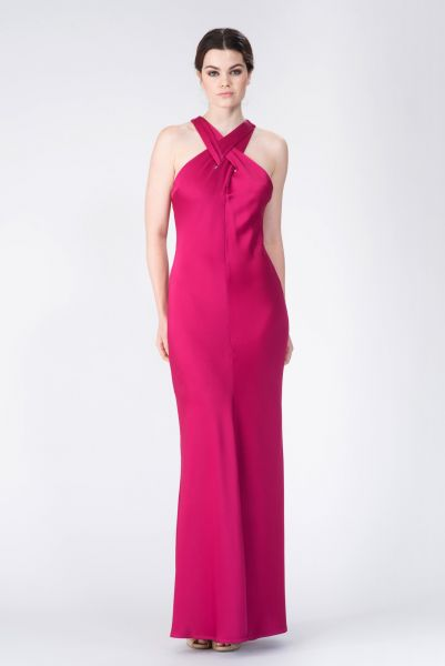 Robe longue rose John Galliano