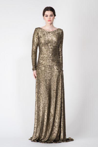 Robes longues doré Jay Ahr