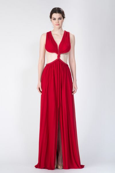 Robe longue rouge Jay Ahr