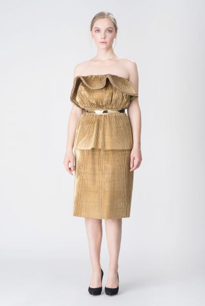 Robe doré Lanvin
