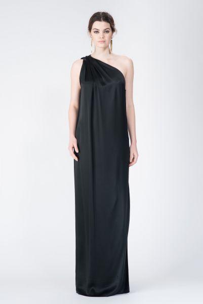 Robes longues noir Lanvin