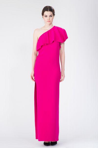 Robe longue rose Lanvin