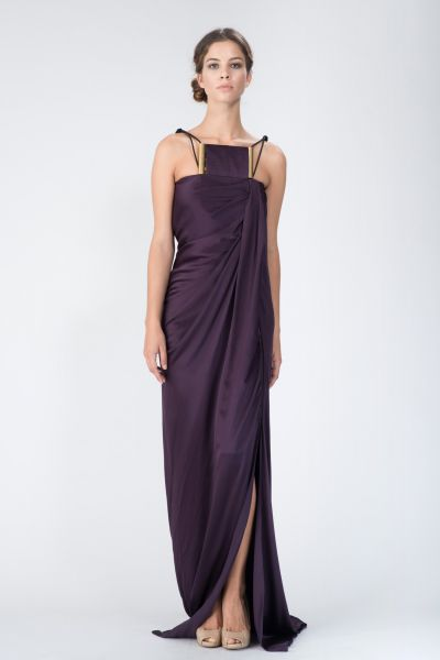 Robe longue violet Lanvin