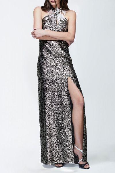 Robe longue noir Lanvin