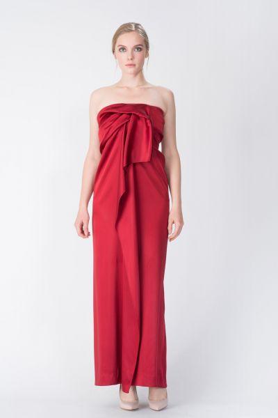 Robe longue rouge Maison Rabih Kayrouz