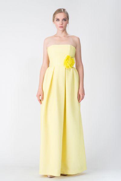 Robe longue jaune Paule Ka