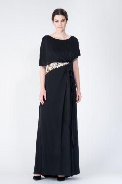 Robe longue noir Paule Ka
