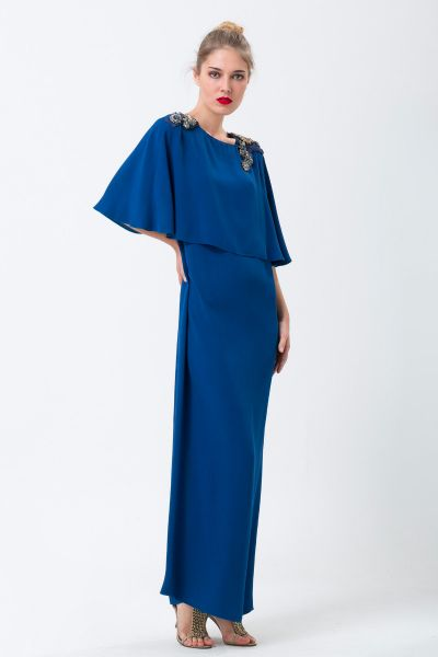 Robe longue bleu Lanvin
