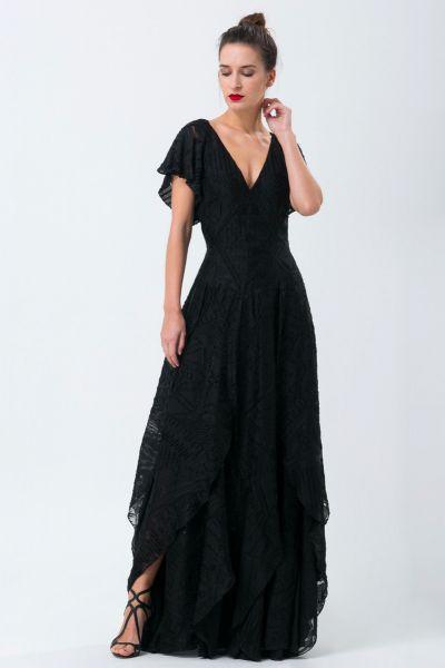 Robe longue noir Ralph Lauren