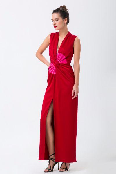 Robe longue rouge Paule Ka