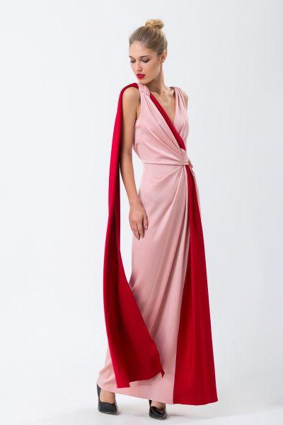 Robe longue rose Paule Ka