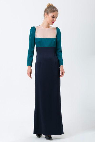 Robe longue bleu Paule Ka