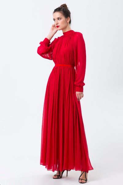 Robes longues rouge Maison Rabih Kayrouz