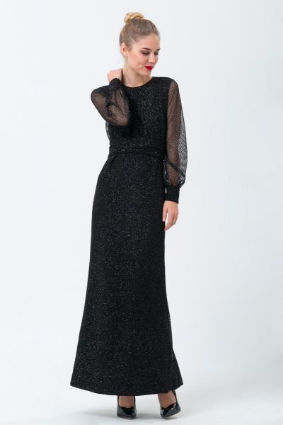 Robes longues noir Ungaro