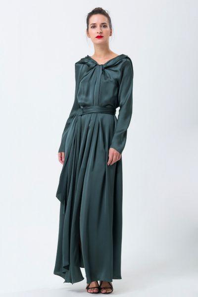 Robe longue vert Paule Ka