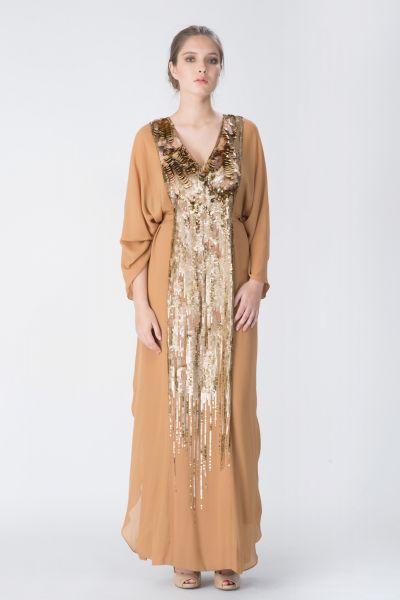 Robe longue beige Ungaro