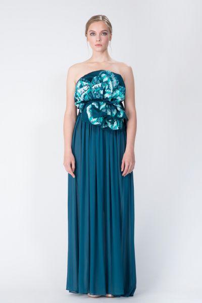 Robe longue bleu Ungaro