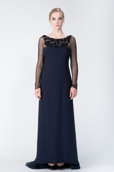 Robe longue bleu Yves Saint Laurent