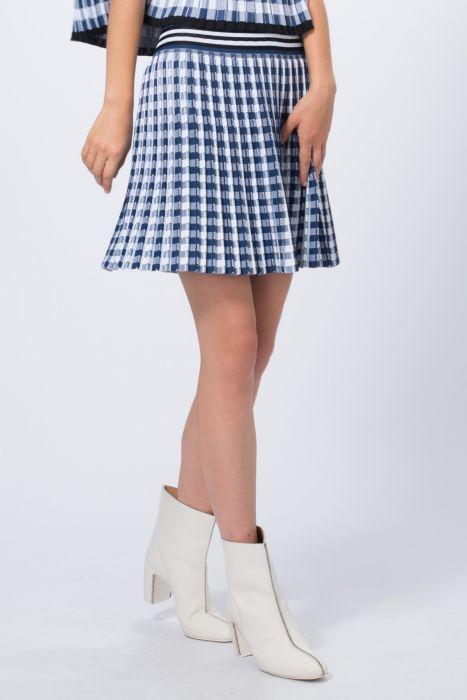 grossiste 1dd25 266e6 Mini jupe maille plissée