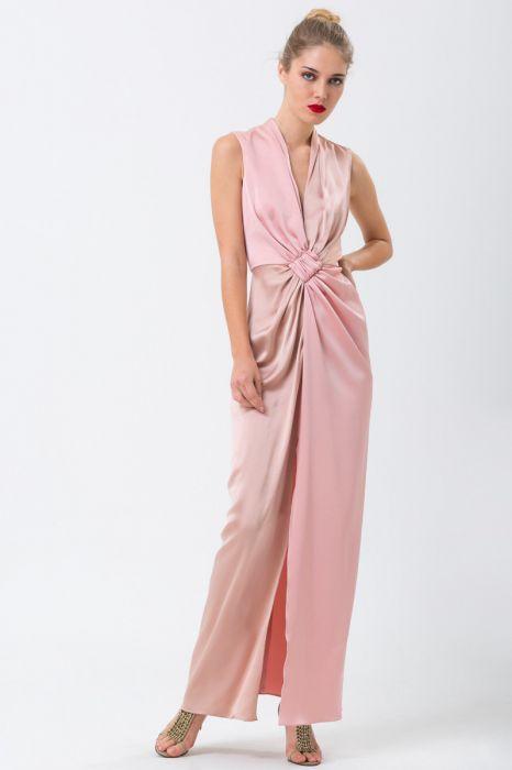 da823bf1e28 Robe drapée rose