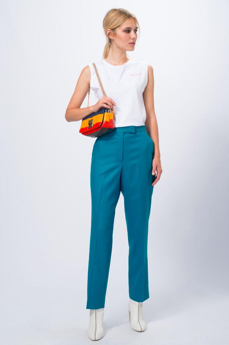 location pantalon drap fin bleu - dress code