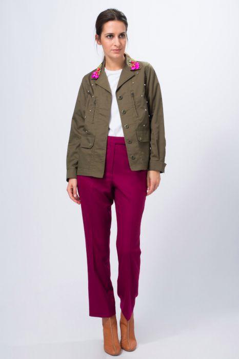 mabonneamie - location pantalon en drap fin rose dress code - week-end