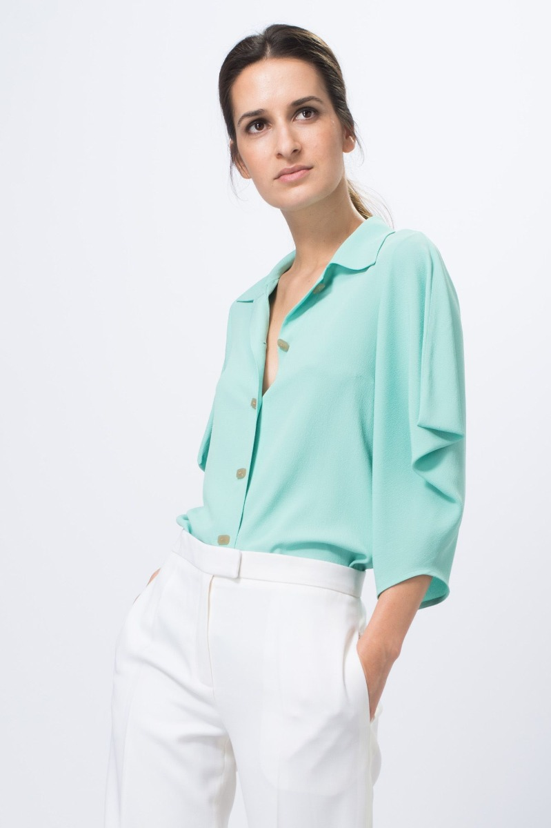 location blouse manche 3 4 verte - dress code